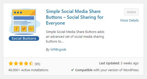 Best social share plugin WordPress free, Greensoft Dhaka